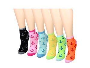Anchor 12-Pack Women's Socks Assorted Colors Size 9-11