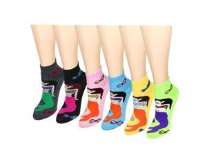 Mermaid 12-Pack Women's Socks Assorted Colors Size 9-11