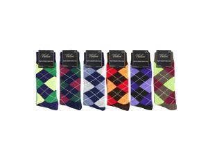 Falari 6-Pack Diamond Shaped Men Dress Socks Size 10-13