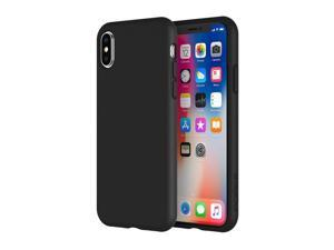 Incipio Siliskin iPhone X Case with Soft Silicone Shell and Micro-Texture Bumper for iPhone X - Black