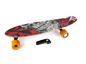 Electric Skateboard IMDeck (Cut Throat) - with amazing graphics, next gen motorized wheel with wireless remote and rechargeable battery
