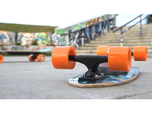Electric Skateboard IMDeck (Rage) - with amazing graphics, next gen motorized wheel with wireless remote and rechargeable battery