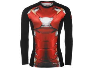Marvel Mens Base Layer Optivent Elastic Training Sports Long Sleeve Top