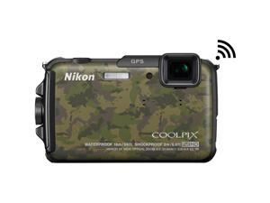Nikon COOLPIX AW110 16MP Waterproof Camouflage Digital Camera