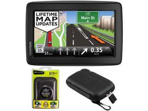 "TomTom VIA 1505M WTE 5"" Touchscreen GPS Navigation Device Lifetime Maps w/ Case + Mount"