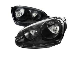 Spec-D Tuning LH-GLF05JM-RS Euro Housing Headlight for 05 to 10 Volkswagen Golf, Black - 10 x 23 x 25 in.