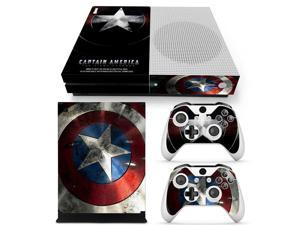 Captain America Vinyl Cover Decal Xboxone S Skin Sticker For Xbox One S Slim Console & 2 Controller Skins Stickers