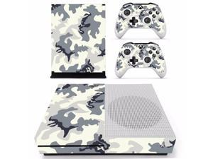 Camouflage Special For XBOX ONE S vinyls Console Game Sticker Cover Vinyl Decals and Controllers Skin for Xbox One S Sticker