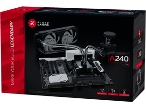 EKWB EK Fluid Gaming A240 Complete Dual 120mm Water / Liquid Cooling Kit 240mm