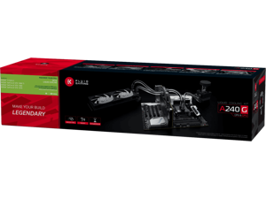 EKWB EK Fluid Gaming A240G Complete Dual 120mm Water / Liquid Cooling Kit 240mm with EK-AC GeForce GTX Pascal GPU Block