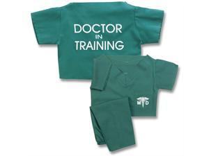 Unisex Baby Green Doctor In Training Scrub Suit Outfit Set Size 12 Months
