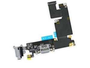 "OEM USB Charging Port Dock Mic Headphone Flex Cable for iPhone 6 PLUS 5.5"" Gray"