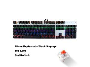 5eebeb5d05f ZERO Mechanical Keyboard with Red Switches, Wired USB Gaming Keyboard with  Colourful Backlit LED Light,104 Keys Anti-ghosting for PC,Mac,Laptop,Gamer,(Red  ...