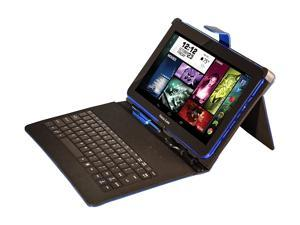 "Visual Land Prestige Elite 10"" Quad Core Tablet with KitKat 4.4, Google Play and Keyboard Bundle (Blue)"