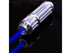 High Quality Aluminum more than 1W 10000m Long distance Strong High Power Blue Laser Pointers Flashlight Combustion 10000m Blue Lesar Pen Lazer+Case+Battery+Charger+Glass