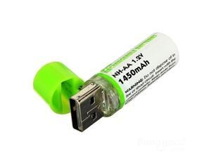 4PCS Portable USB AA 1450mAh 1.2V USB Rechargeable Battery With LED Indicator