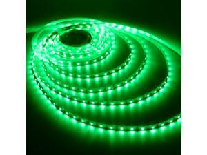 Triangle Bulbs Green LED Strip light, Waterproof Flexible Light Strip 12V with 300 SMD 3528 LED, 16.4 Ft / 5 Meter (no adaptor or connector included)