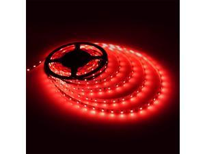 Triangle Bulbs Red LED Strip light, Waterproof LED Flexible Light Strip 12V with 300 SMD 3528 LED, 16.4 Ft / 5 Meter
