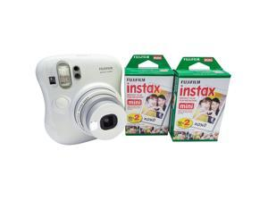 FujiFilm Instax Mini 25 Instant Camera Bundle with 2x Instax Mini Film Twin Packs (40 Exposures)