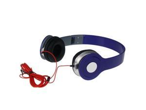 Adjustable Over-Ear Earphone Headphone 3.5mm For iPod iPhone MP3 MP4 PC Tablet Blue