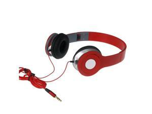 Adjustable Over-Ear Earphone Headphone 3.5mm For iPod iPhone MP3 MP4 PC Tablet Red