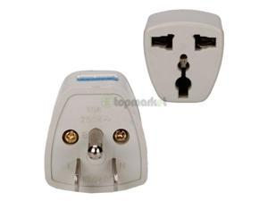 2Pcs Universal EU AU to US 3 Pins AC Power Plug Travel Adapter Converter Outlet