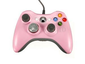 Pink Wired USB Gamepad Joystick Joypad Controller for Microsoft Xbox 360 Console & PC