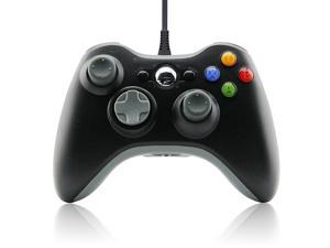 Honsdom Wired USB Game Controller for Microsoft Xbox 360 Console,PC Computer Windows - Black
