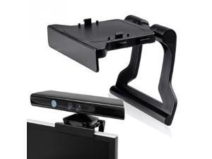 Black Mini Camera TV Clip Holder for Xbox 360 Kinect Video Games Mounting Stand With Retail Gift Box