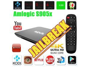 MXQ Amlogic S905X X64 Quad Core 2 GHz Smart TV Box Android 6.0 Fully Loaded XBMC/KODI Home Internet stream media Center Support Full HD 1080P Free Sports Movies 4K WIFI