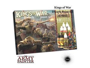 Warpaints: Kings of War: Dwarfs War Paint Set (10) The Army Painter APS WP8015