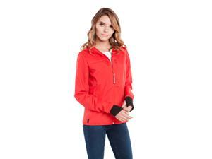 BauBax Windbreaker Red- This water-repellent windbreaker has 15 features such as a built-in neck pillow, eye mask, gloves, iPad pocket, drink pocket, pen-stylus hybrid, and more