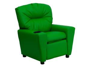 Flash Furniture Contemporary Green Vinyl Kids Recliner with Cup Holder [BT-7950-KID-GRN-GG]