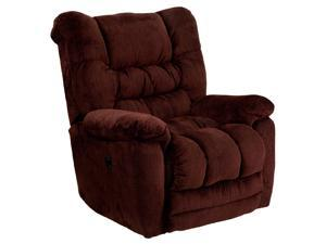 Flash Furniture AM-P9560-6451-GG Contemporary Temptation Merlot Microfiber Power Recliner with Push Button