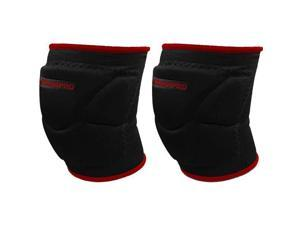 Pro-Plus Low Profile Knee Pads - Black/Red - Small