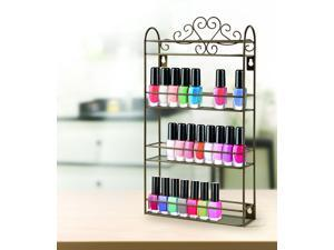 Standing or Wall Mounted Nail Polish Rack For 48 Nail Polish Bottles