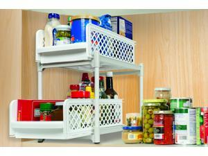 2 Tier Kitchen Bathroom Storage Organizer - Store Food Supplies