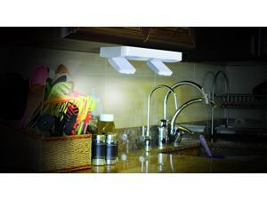 Super Bright, Wireless, Battery Powered Under Cabinet Swivel Light, Peel & Stick Application. Perfect For Under Cabinet, pantry, and Closet Lighting