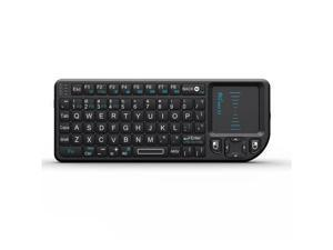 New Rii mini X1 Handheld 2.4G Wireless Keyboard Touchpad Mouse for PC Notebook Smart TV Black Keypad