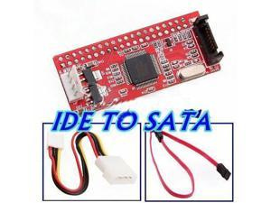 NEW IDE TO SATA 100/133 HDD CD DVD Converter Adapter + Cable