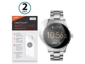 Fossil Q Marshal Screen Protector, BoxWave [ClearTouch Anti-Glare (2-Pack)] Anti-Fingerprint Matte Film Skin for Fossil Q Marshal, Wander