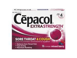 Sore Throat And Cough Lozenges, Mixed Berry, 16/pack, 24 Packs/carton