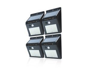 20-LED Solar Powered Outdoor Motion Activated Security Wireless Wall Light, 4-pack