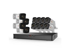 Ultra HD 16 Ch. 3TB NVR Surveillance System with 12 2 Megapixel Cameras