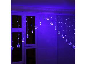 Excelvan 30V 3M 136LED V-type Fairy Curtain Light with 8 Modes for Christmas Halloween Holiday Party Wedding - Blue