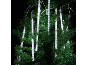 Finether 144 LED 8 Tube Meteor Shower Snowfall Fairy String Lights for Christmas Xmas Tree Party Wedding, White