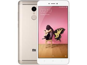 Xiaomi Redmi Note 4X 4G Phablet 5.5'' Android 6.0 Snapdragon 625 Octa Core Fingerprint 3GB RAM 32GB ROM Smartphone, Gold (INTERNATIONAL VERSION)