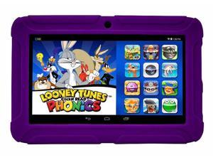"Clickn Kids Tablet 2,Intel & Android Powered 7"" 8GB with Gel Case&Stylus,Purple"