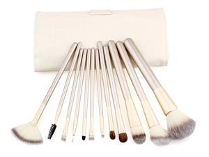 Putwo Make Up Brushes 12 Piece Set with Makeup Kit - White, 9.14 Ounce