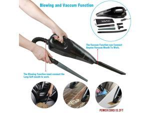 Car Vacuum Cleaner,Wietus 12V,Power:85W,3.2KPA Suction, Portable Wet/Dry Handheld Auto Car Vacuum Cleaner,Blow Cleaner and Vacuum Cleaner Function,13.2FT(4M) cord,  5-in-1 Vacuum Mouths
